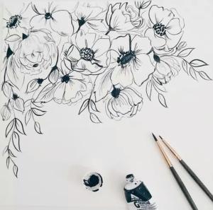 Dibujo de flores.