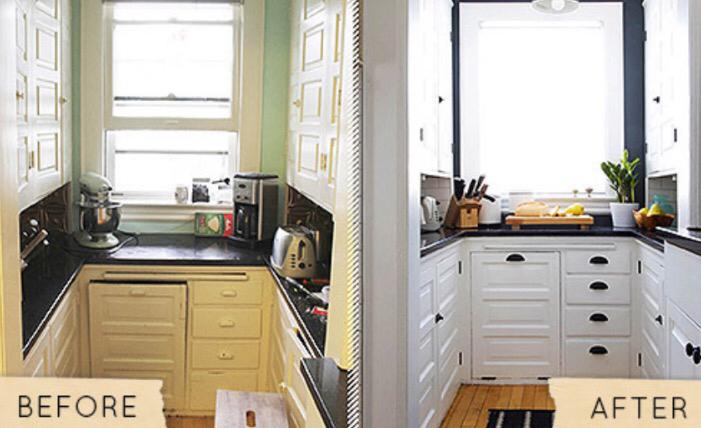 Small low cost cualquiera puede renovar la cocina con for Renovar armarios cocina