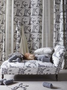 Colección Maca, tejido toile de jouy renovado
